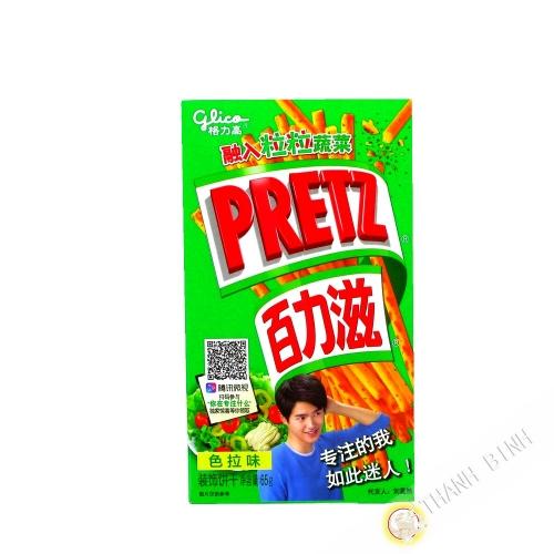 Biscuit stick PRETZ salade avec sucre et édulcorant GLICO 65g Chine