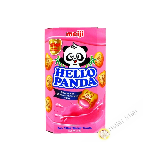 Biscuit Hello Panda strawberry MEIJI 50g China