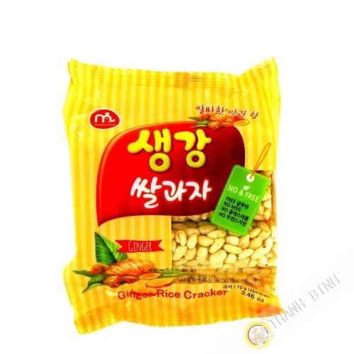 Crackers de riz gingembre MAMMOS 70g Corée