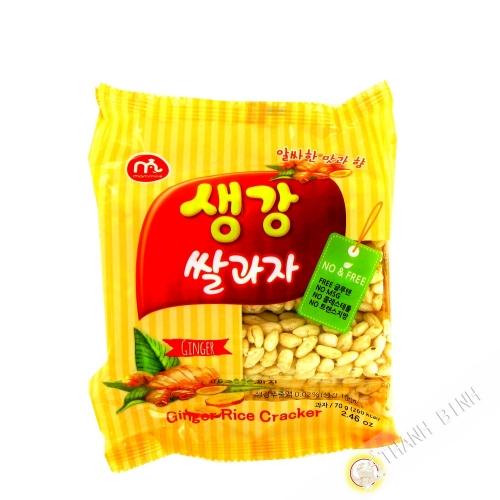 Crackers rice ginger MAMMOS 70g Korea