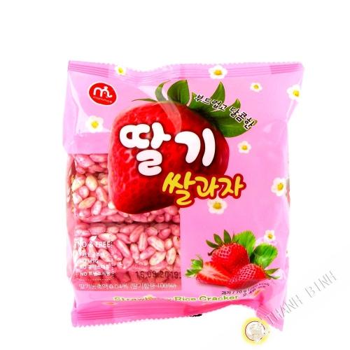 Crackers de riz fraise MAMMOS 70g Corée