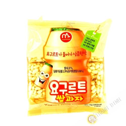 Crackers de riz yaourt MAMMOS 70g Corée