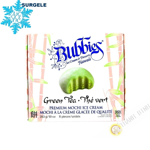 Mochi ice cream green tea BUBBIES 283g United States - SURGELES