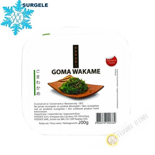 Seaweed salad wakame seasoned HANABI 200g China - SURGELES
