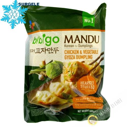 Gyoza Mandu poulet & légumes Mandu BIBIGO 600g Allemange - SURGLES