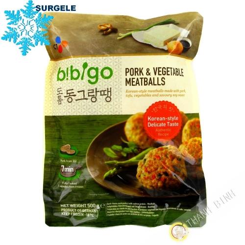 Boulette Porc & légumes BIBIGO 600g Allemagne - SURGELES