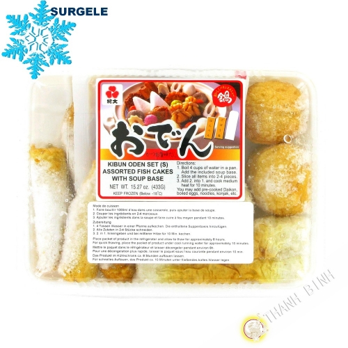 Assortissement pate de poisson KIBUN oden Set 433g Thailande  - SURGELES