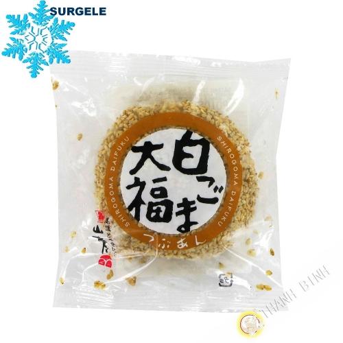 Pastel de arroz glutinoso masa, rojo frijol azuki Sésamo YAMAMOTOYA 100g Japón - SURGELES