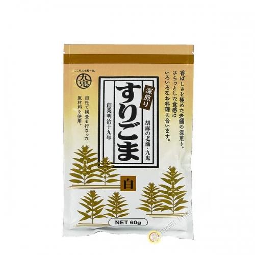 White sesame grilled pounded fukairi surigoma KUKI 60g Japan