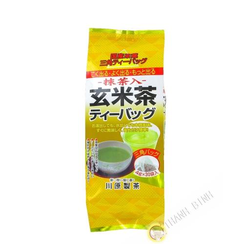 Thé vert matcha avec riz souffle KAWAHARA 120g Japon