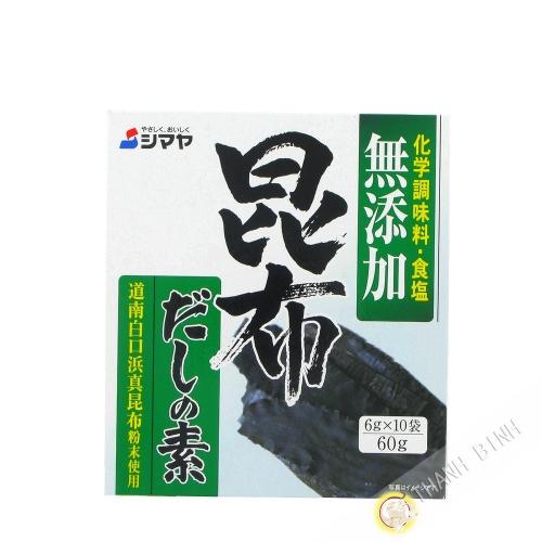 Dashi en polvo para el konbu sin MSG SHIMAYA 60g de Japón