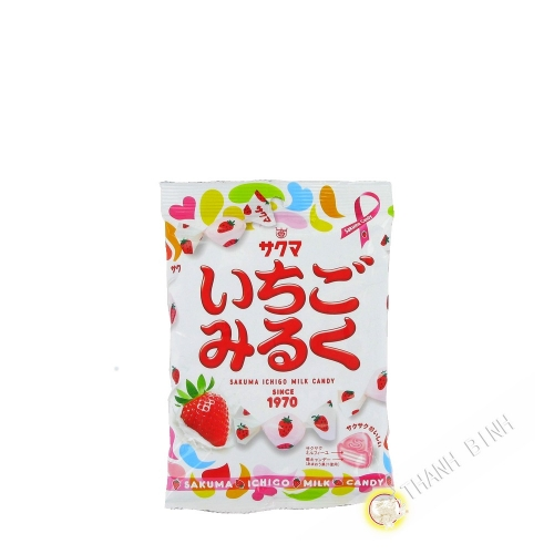 Candy with strawberry and milk SAKUMA 100g Japan