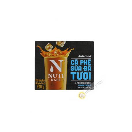 Coffee and milk soluble 3-in-1 NUTI 10X24g VietNam