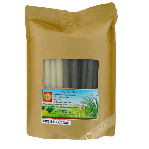 Paille comestible biodégradable DRAGON OR 19cmX13mm 50pcs VIET NAM