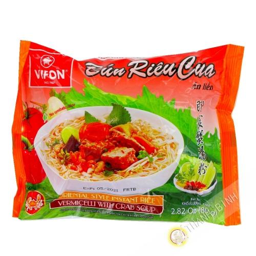Sopa con fideos de bun rieu cua VIFON 80g de Vietnam