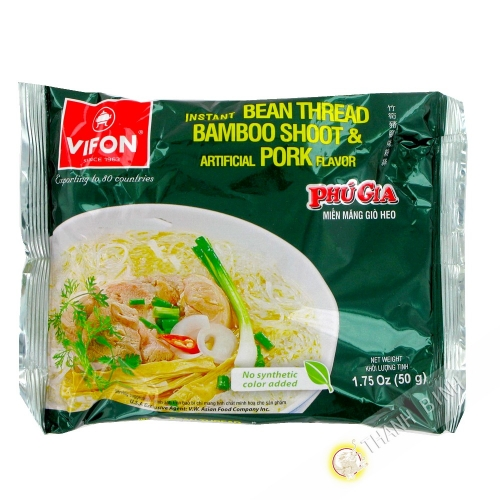 Sopa de fideos de carne de cerdo PHU GIA VIFON 50g de Vietnam