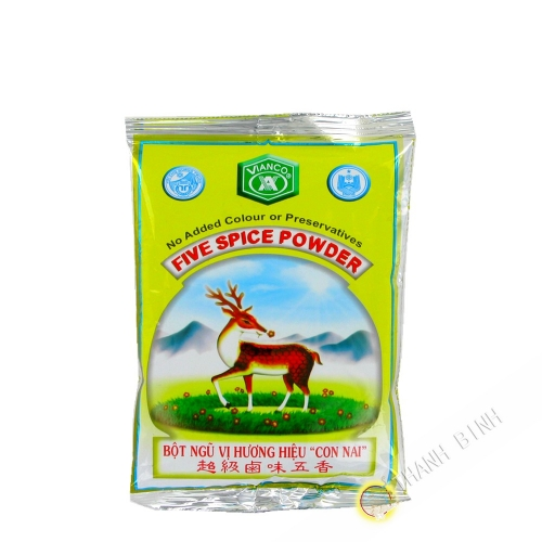 Five fragrances Ngu vi huong powder Con Nai VIANCO 100gr VIETNAM