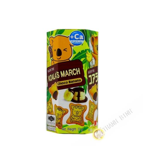 Biscuits fourrés à la banane et au chocolat LOTTE 37g Thailande