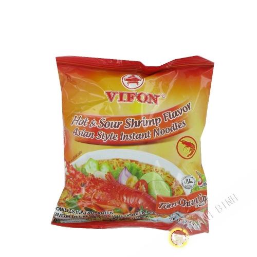 Soupe nouille Tom Chua Cay VIFON 70g Vietnam
