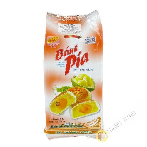 Cake Pia mung bean durian TAN HUE VIEN 400g Vietnam