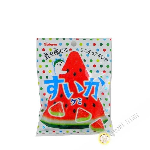 Caramelos Blandos Suika Sandía KABAYA 50g Japón