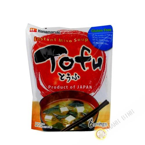 Sopa de Miso con Tofu Instante HANAMARUKI 109g Japón