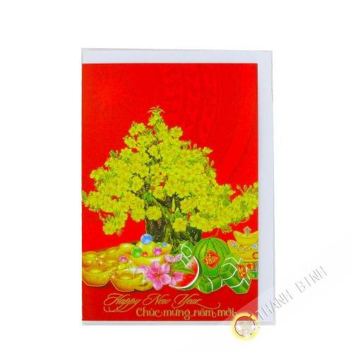 Grußkarten neujahr / Tet 19cmx13cm Vietnam