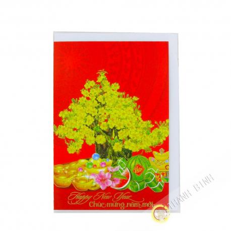Tarjetas de felicitación de Año Nuevo / Tet 19cmx13cm Vietnam