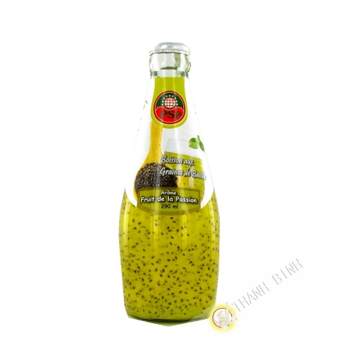 Drink in the seeds of basil pomegranate 290ml Thailand