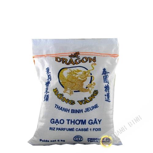 Riz parfumé cassé 1 fois DRAGON OR 5kg Thailande