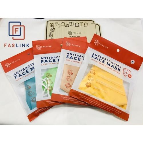 Maschera tessile adulto di colore 3 strati di tessuto FASLINK 26x14cm Sacco di 3pcs Vietnam