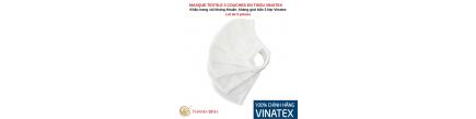 Máscara de textil 3-capa de tejido VINATEX Lote de 5 unidades de Vietnam