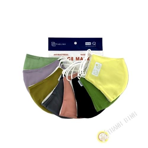 Masque textile adulte couleur 3 couches en tissu FASLINK 26x14cm - Lot de 3pcs Vietnam