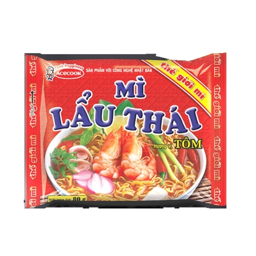 Instant noodle saltati HAO HAO gamberetti cipolla ACECOOK 75g Vietnam