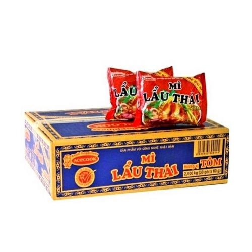 Soup instant noodle HAO HAO shrimp sour spice ACECOOK cardboard 30x75g Vietnam