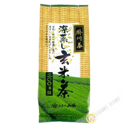 Tè verde con riso soffiato di YAMASHIRO 200g Giappone