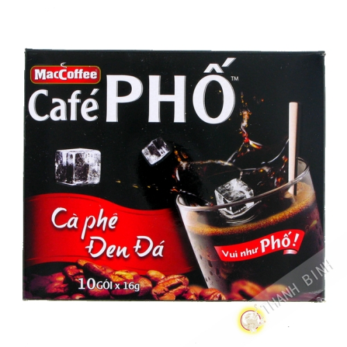 Cafe Pho black soluble Pho MAC COFFEE 10x16g Vietnam