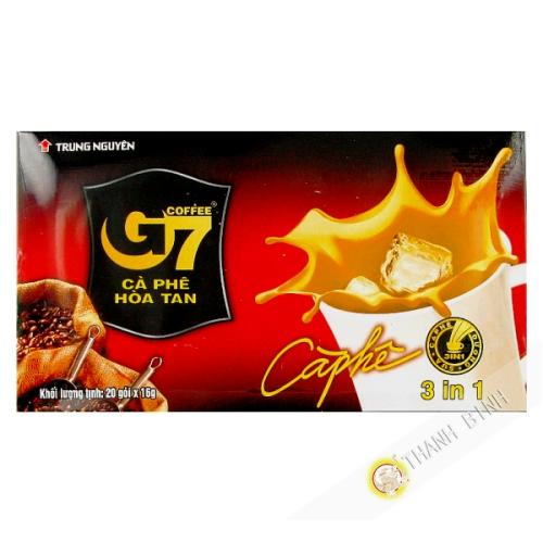 Crema de café soluble 3-en-1 G7 TRUNG NGUYEN 320g de Vietnam