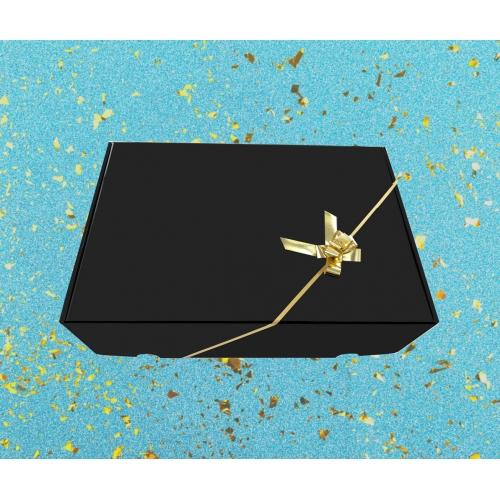 Boîte cadeau Noir brillant 26x39x12cm