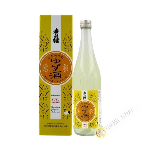 Japanese sake with Yuzu KASUMITSURU 720ml 12° Japan