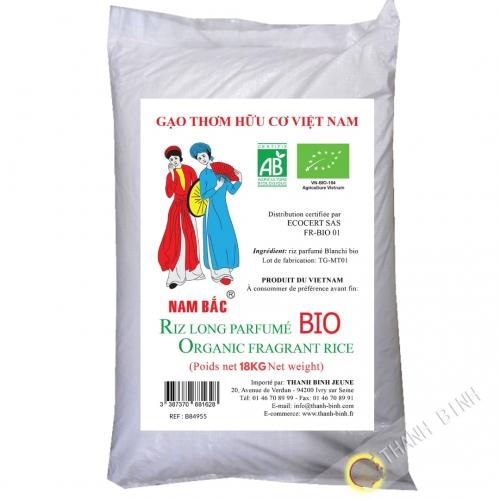 Riz BIO long parfumé  NAM BAC 18kg Vietnam