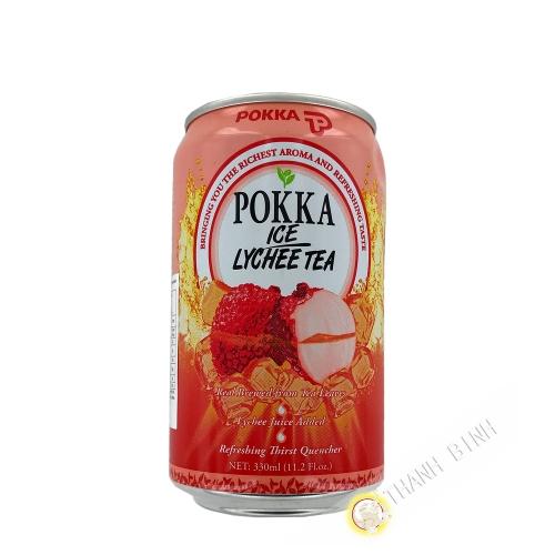 Boisson thé glacé au litchi POKKA 330ml Singapour