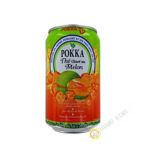 Boisson thé glacé au melon POKKA 330ml Singapour