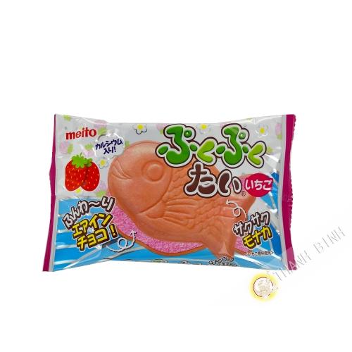 Galleta de mousse de fresa MEITO 20g