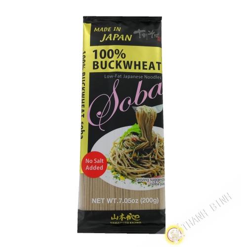 Pasta de soba de trigo sarraceno 100% YAMAMOTO 200g Japón