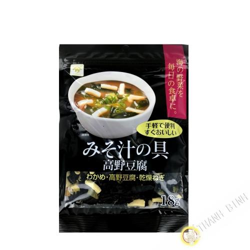 Dried vegetables for miso soup UONOYA 18g Japan