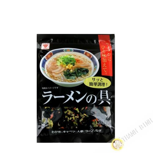 Legumes seches pour ramen UONOYA 20g Japon