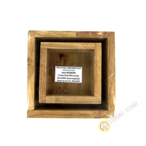 Moule pour Banh chung en bois carrée  12cm Vietnam