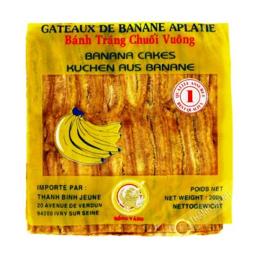 Banana appiattito bordo, 200g