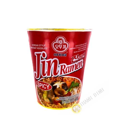 Noodle soup Jin ramen piquant cup OTTOGI 65g Korea